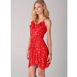 Rebecca Taylor Red Floral Dress